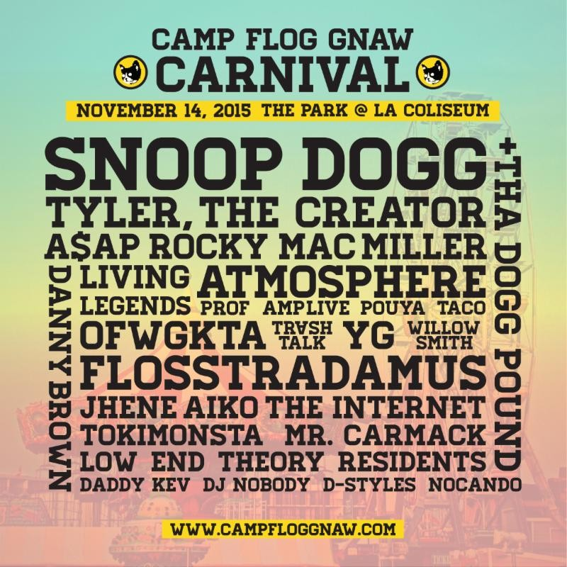 Tyler, the Creator's Camp Flog Gnaw Carnival Lineup: Snoop Dogg, A