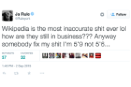 Ja Rule Is Mad That Wikipedia Says He's Short