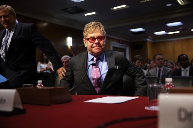 Elton John Testifies To Senate Hearing On AIDS Research And Funding