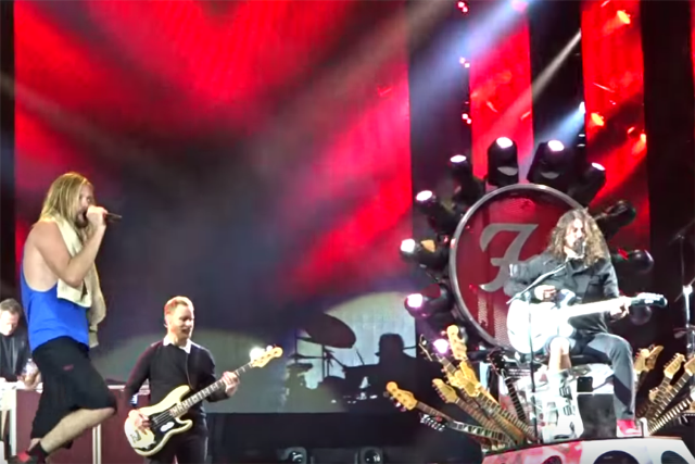 watch the foo fighters cover under pressure with queen s roger