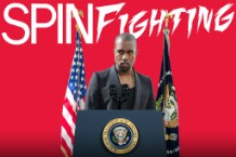 spinfighting president kanye west