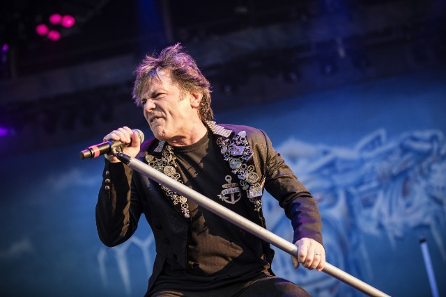 The English heavy metal band Iron Maiden performs a live concert at the Scandinavian heavy metal festival Copenhell in Copenhagen