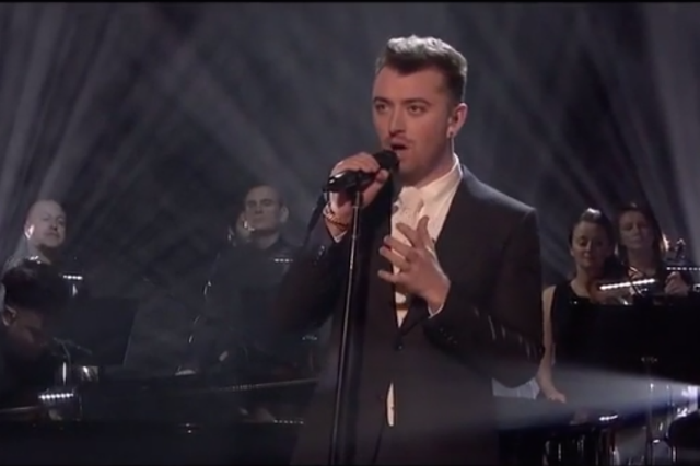 Sam Smith Unveiled Writing S On The Wall Live On Graham