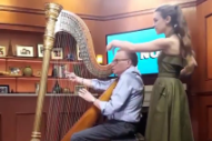 Joanna Newsom Teaches Larry King to Play Harp in 'Larry King Now' Teaser