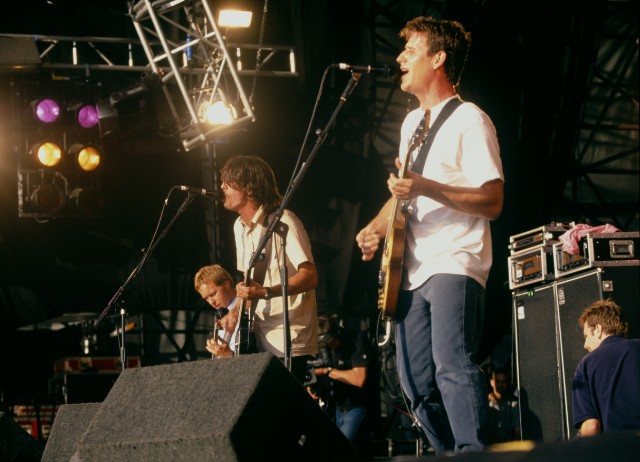 Foo Fighters in 1998 with Franz Stahl