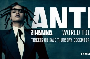 Rihanna Announces 2016 World Tour With The Weeknd, Travi$ Scott, and Big Sean