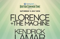 Florence + the Machine Will Headline Hyde Park With Kendrick Lamar, Jamie xx, and Blood Orange