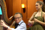 Joanna Newsom Taught Larry King to Play Harp on His Web Show