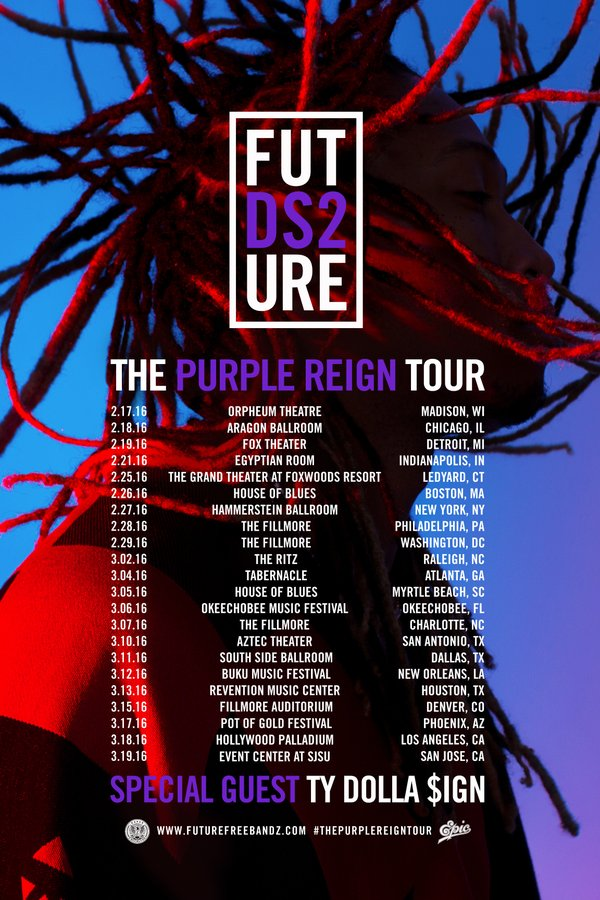 2251a3035a8 Future Announces  Purple Reign  Tour With Ty Dolla  ign