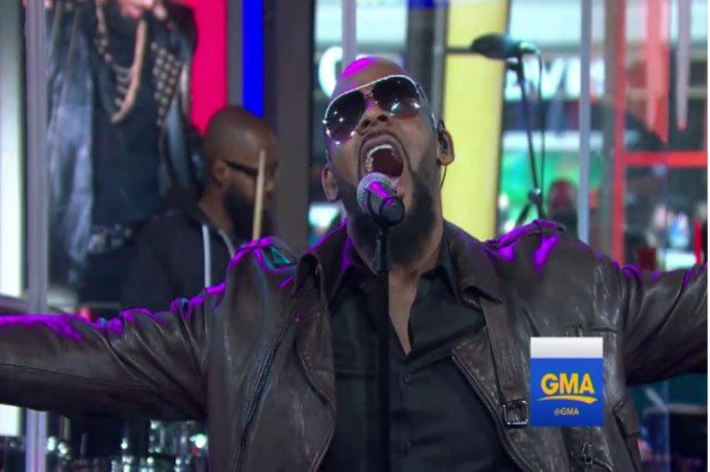 R Kelly Stopped By Good Morning America Yesterday Amidst Touring To Tout His New Album The Buffet Appearance Went Much Better Than One A Week