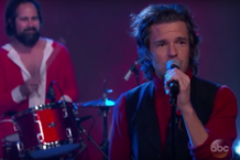 the-killers-joel-the-lump-of-coal-dirt-sledding-jimmy-kimmel-live-video
