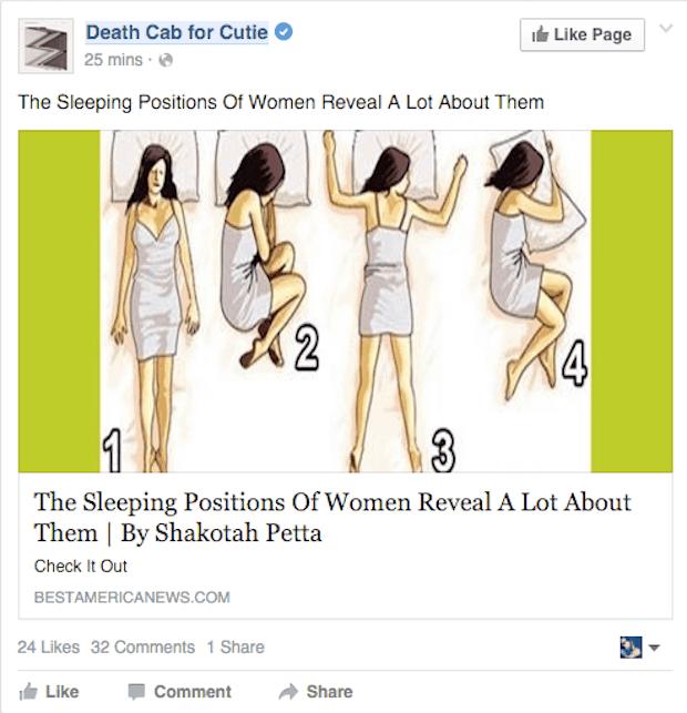 death cab, facebook, hacked
