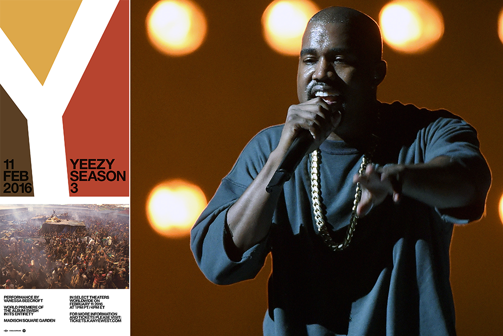 Kanye west to debut swish by livescreening madison square garden performance to theaters spin for Madison square garden kanye west