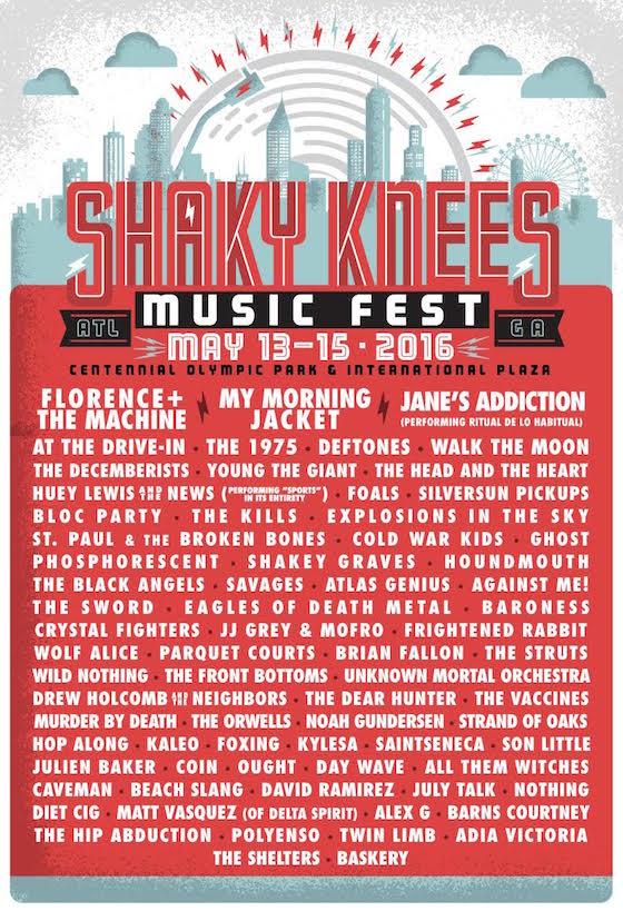 shaky knees festival poster