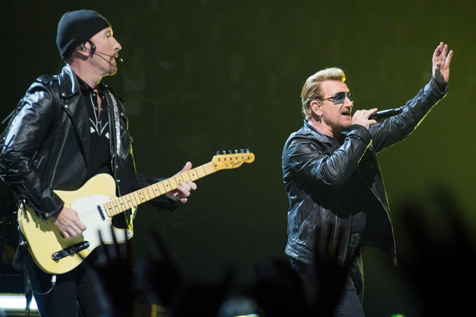 U2 Performs at AccorHotels Arena In Paris