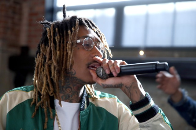 Wiz Khalifa at Fanatics Super Bowl Party