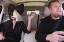 Sia and James Corden on Carpool Karaoke