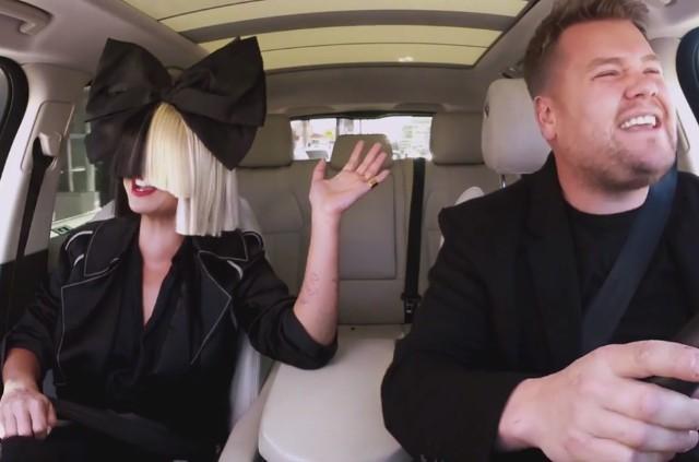 Sia and James Corden on Carpool Karaoke