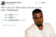Kim Kardashian Polled Twitter for the Name of Kanye West's Album and 'Waves' Came in Last