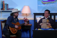 Jeff Tweedy Plays Stephen Colbert and His Teddy Bear a Lullaby on 'The Late Show'