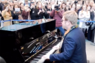 Elton John Performed a Piano Medley at a London Train Station