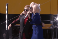 Elton John Performs Pop-Up Show on Sunset Strip Featuring Lady Gaga