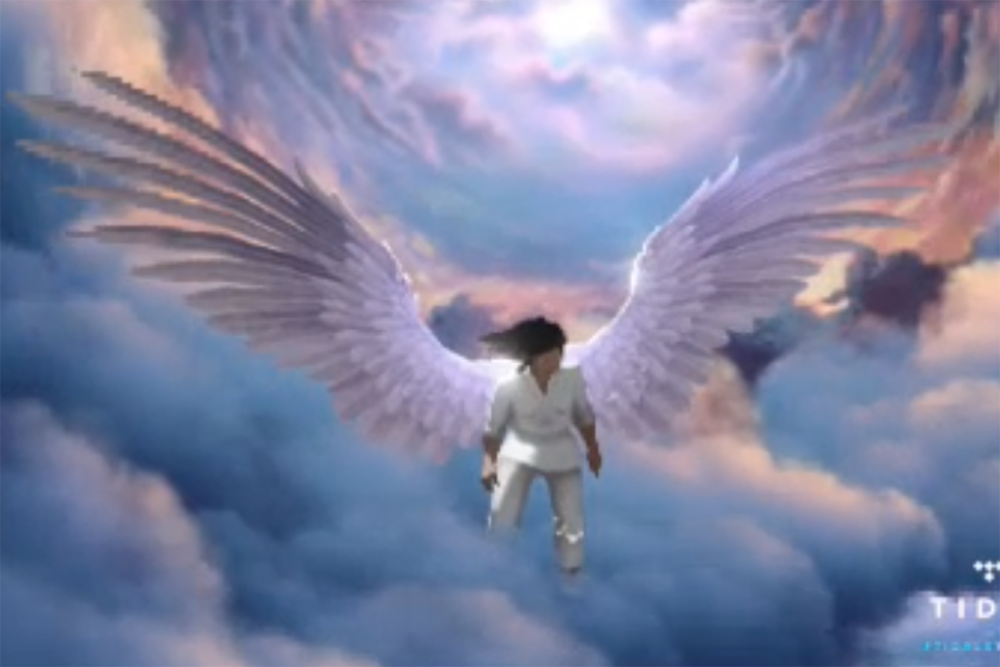 Kanye West Made a Video Game About His Mom Exploring Heaven.