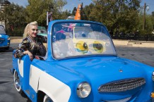Gwen Stefani Visits New 'Cars Land' Attraction At Disneyland Resort