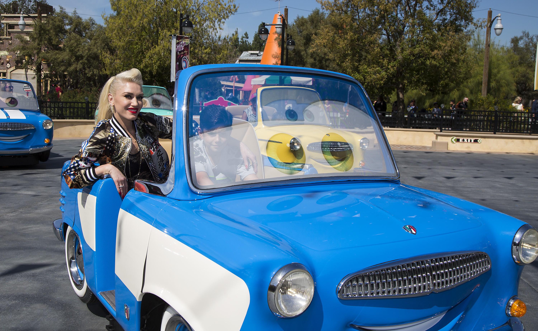 Gwen Stefani Visits New 'Cars Land' Attraction At Disneyland Resort