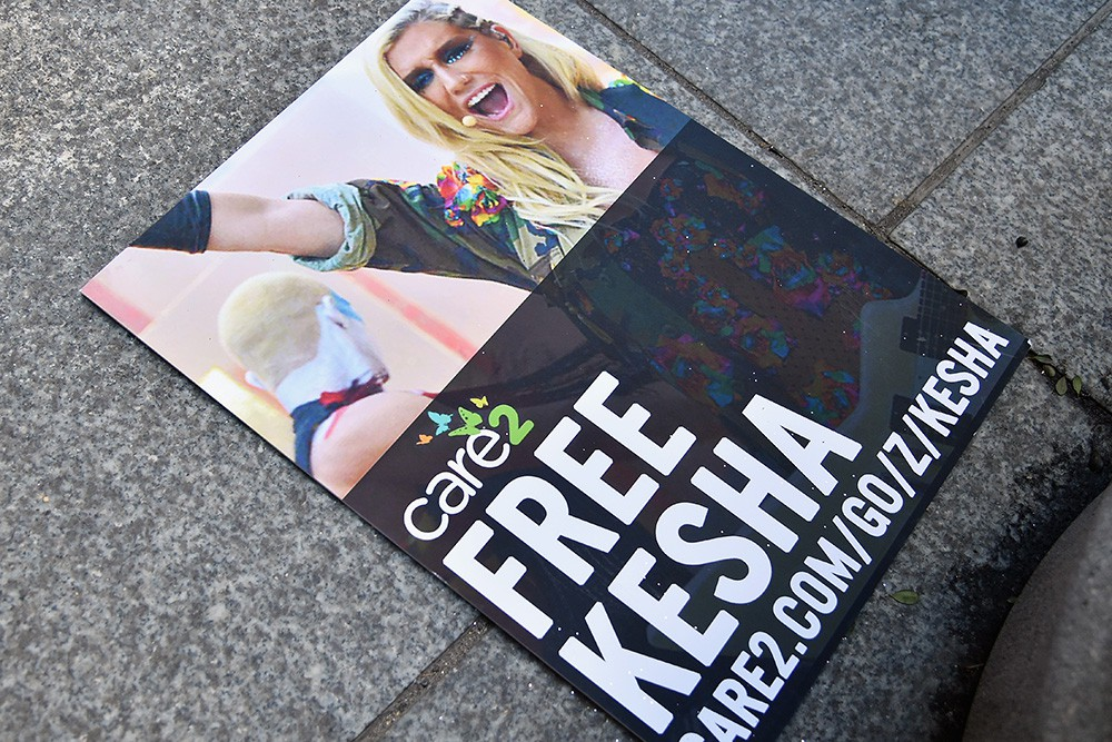 Kesha Fans Protest In Front Of Sony Headquarters