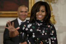Michelle Obama Hosts Cast Of Broadway's