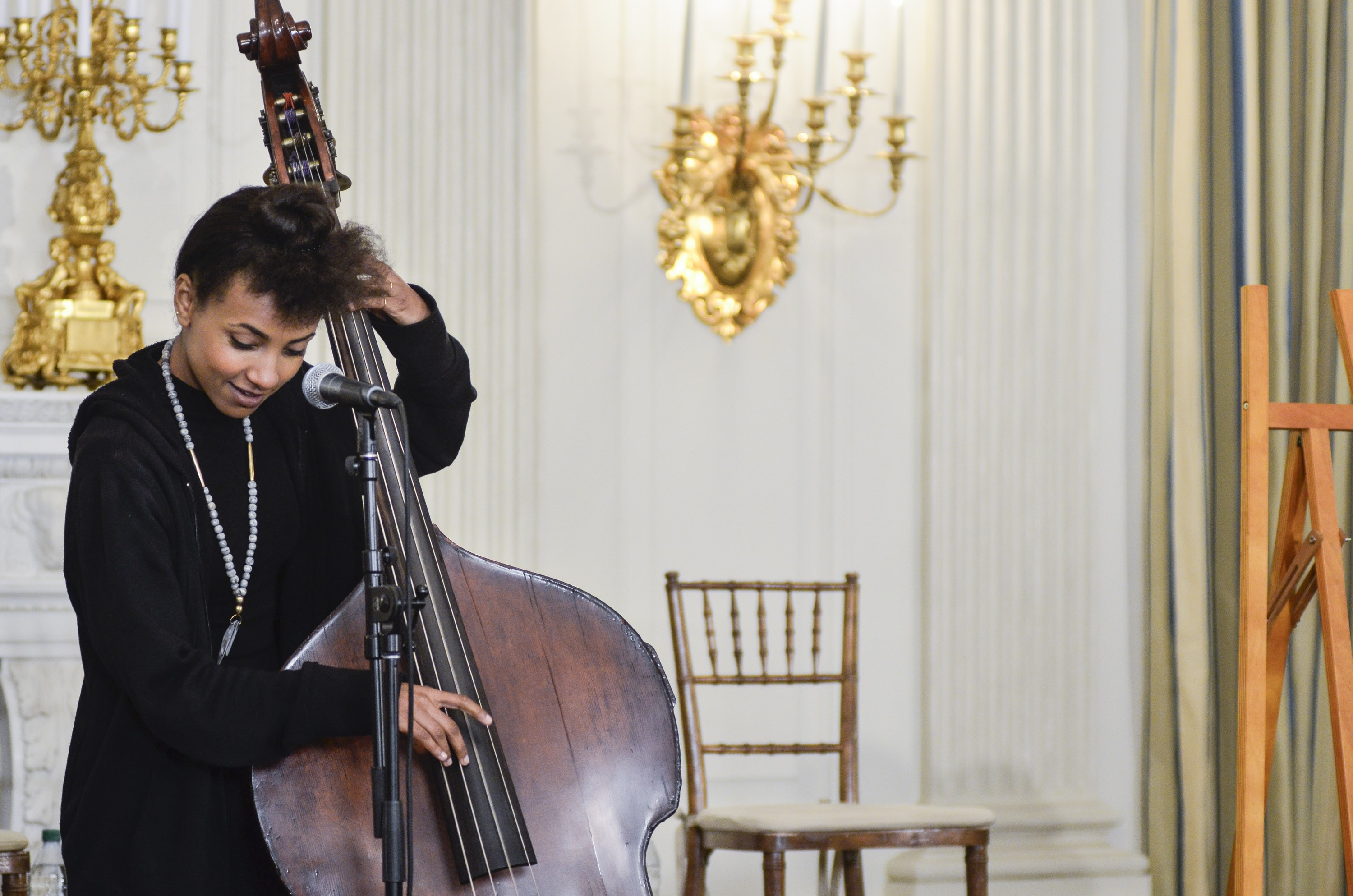 Esperanza Splading at a Celebration Of Song: In Performance At The White House Student Workshop