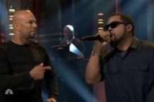 Common and Ice Cube Performing on 'Fallon'