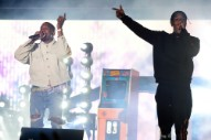 Watch Kanye West Crash A$AP Rocky's Coachella Set to Perform 'Father Stretch My Hands, Pt. 1.'