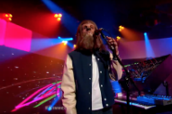 M83's Anthony Gonzalez and His Werewolf Mask Play 'Junk' Songs on 'Kimmel'
