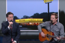 sturgill simpson waffle house stephen colbert no shirt brace for impact video watch