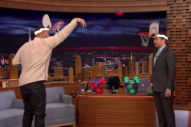 Drake Plays Jimmy Fallon for the 'Faceketball' Championship of Late Night