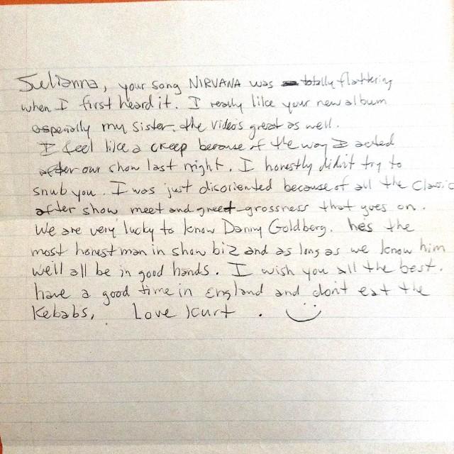 Here s a Handwritten Letter From Kurt Cobain to Juliana Hatfield