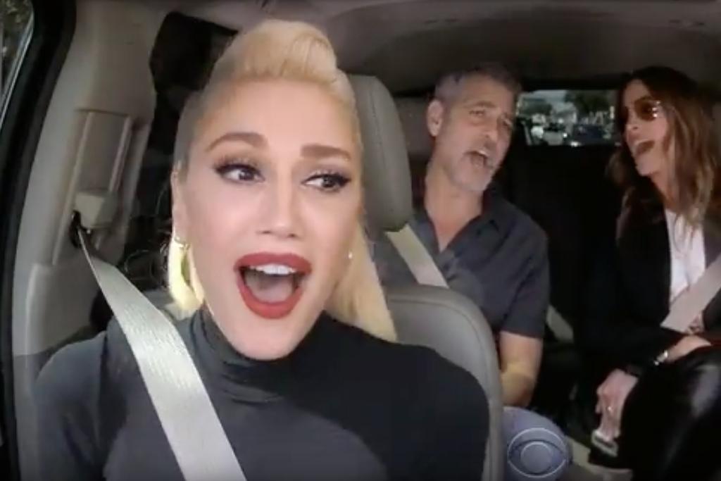 Gwen stefani george clooney and julia roberts descend on for Car pool karaoke show