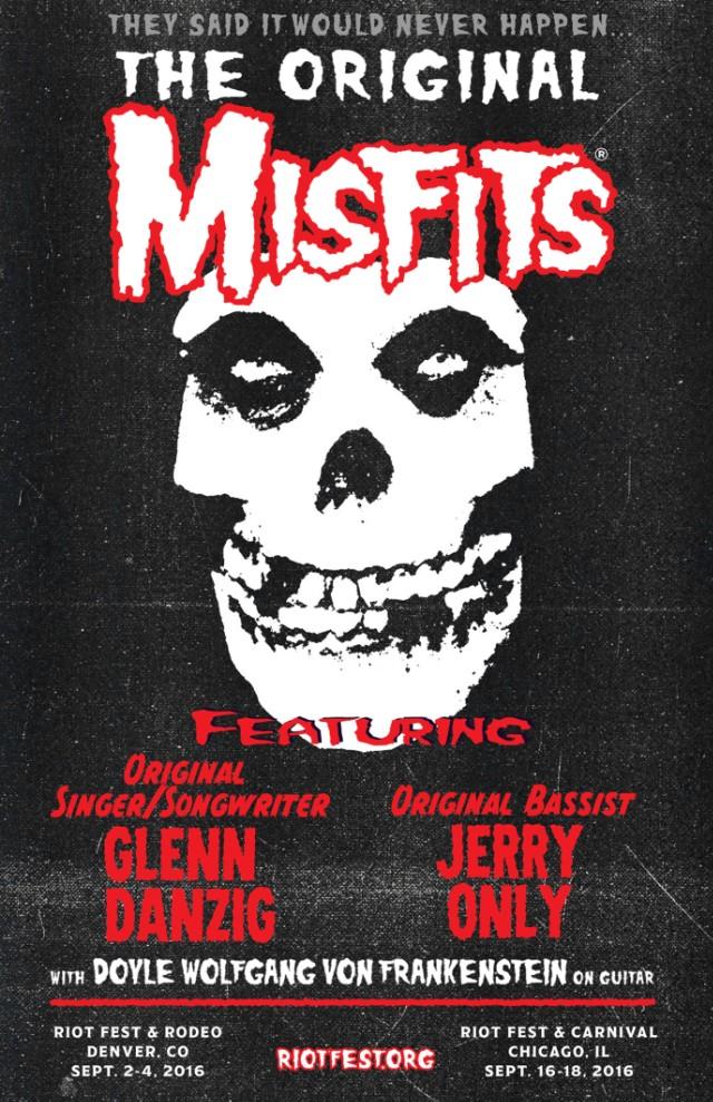 misfits riot fest reunion poster
