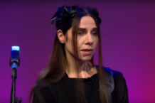 pj harvey community of hope andrew marr show bbc performance watch video