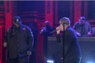 DJ Shadow Brings Run the Jewels to 'Fallon' for 'Nobody Speak'
