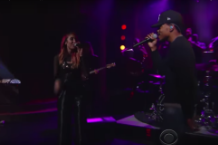 hundred waters chance the rapper skrillex the late show with stephen colbert video watch