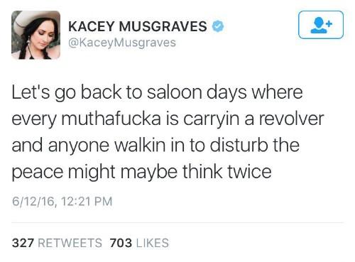 Kacey tweet