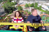 Watch Selena Gomez and James Corden Belt 'Come and Get It' on a Roller Coaster