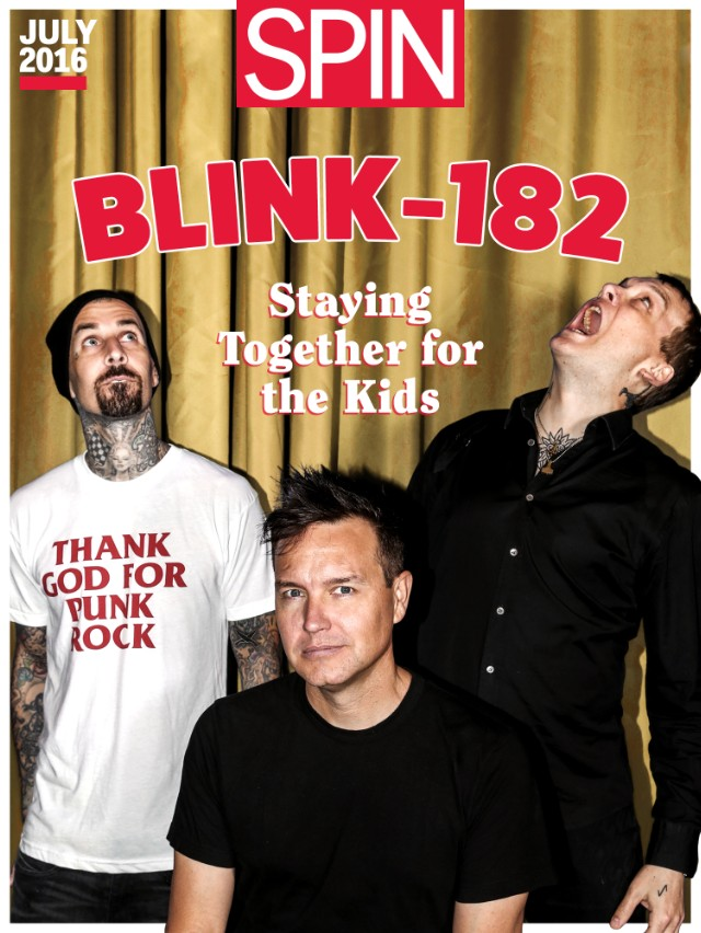 blink-182, california, spin cover story, mark hoppus, travis barker, matt skiba, tom delonge