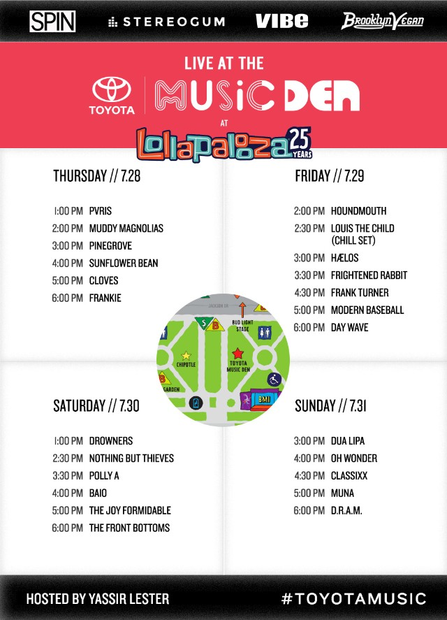 Lolla-Music-Den-Schedule