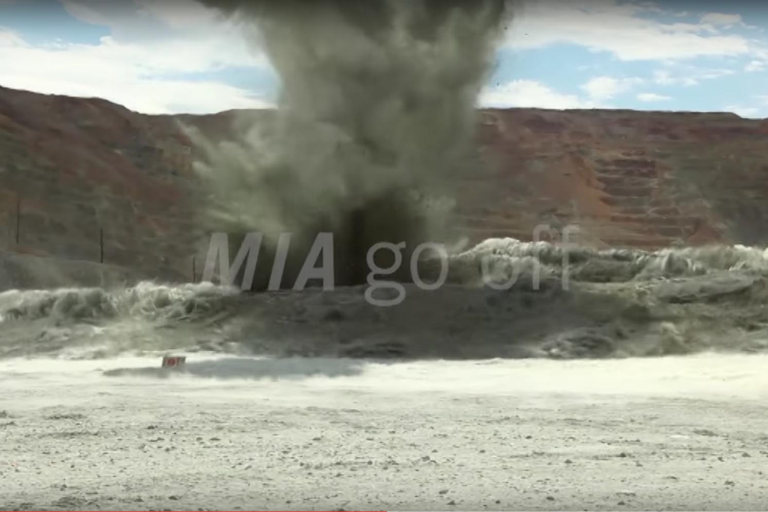 MIA go off explosion video watch