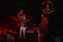 jenny lewis nice as fuck NAF late show with stephen colbert video watch