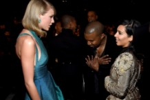 Kanye West, Kim Kardashian, Taylor Swift